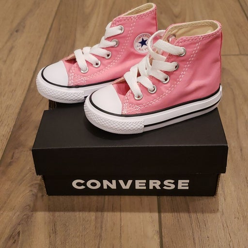 Converse Infant Pink Hi-Tops Size 4
