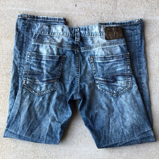 Silver jeans zac straight leg jeans 28