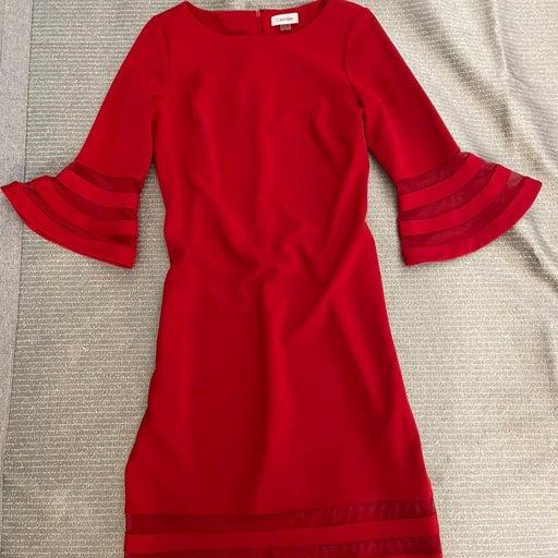 Calvin Klein red  Dress size 6
