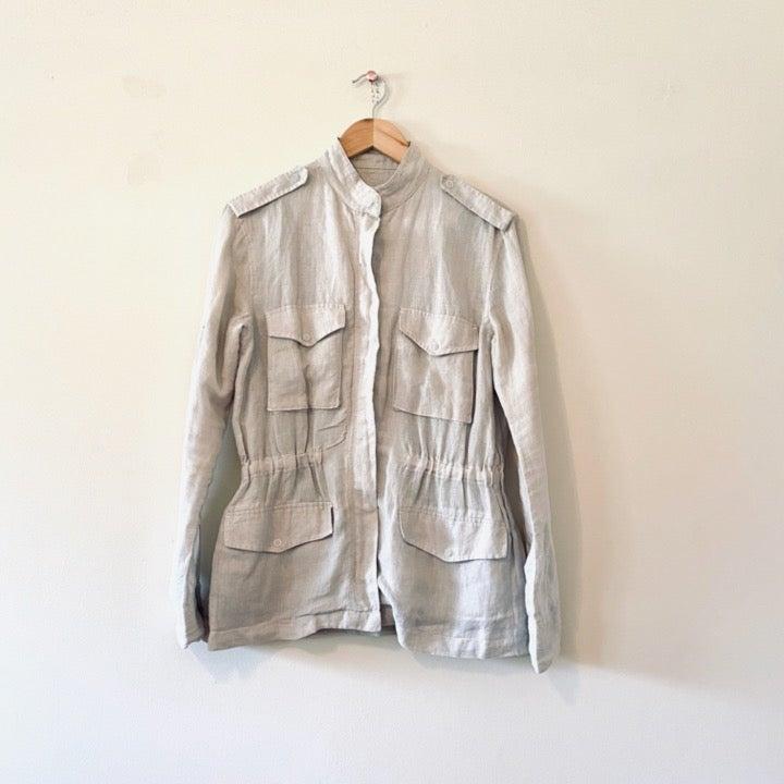 Rag & bone shirt gray linen jacket XS