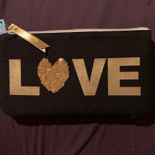 Love reversible sequin bag