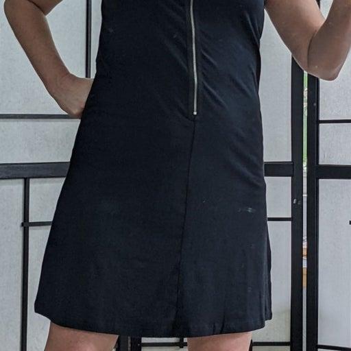 Studded Zipper Dress