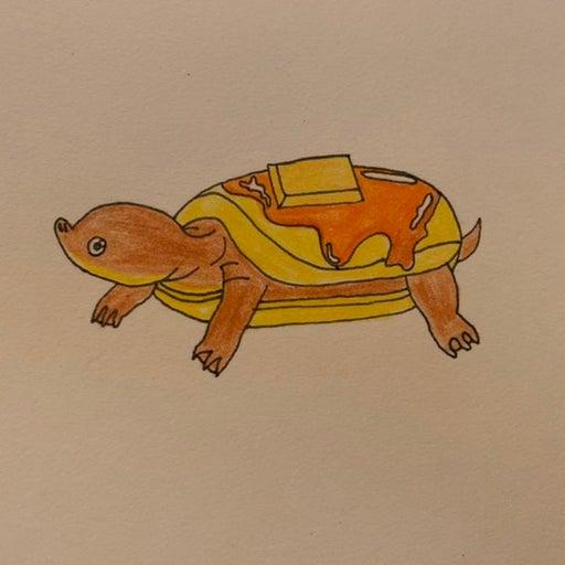 Handmade pancake turtle