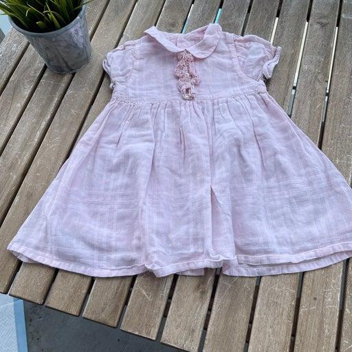 Dress 9/12 months Burberry short sleeves pink