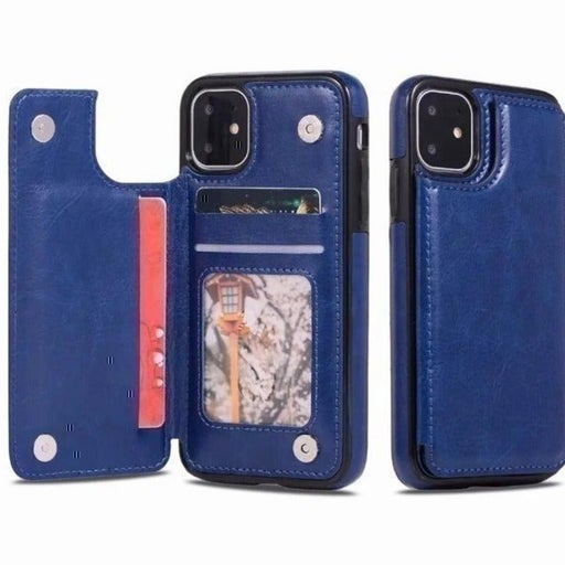 New iPhone 12 PRO MAX Blue Wallet Case