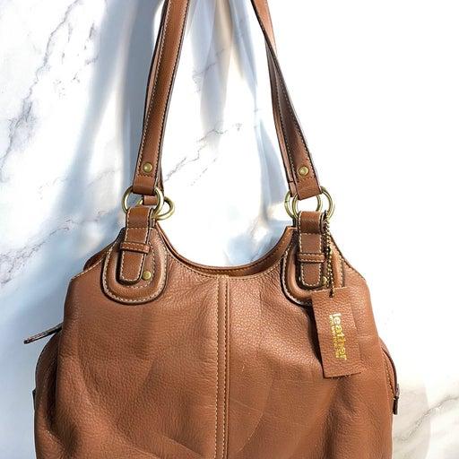 Croft & Barrow 100% Leather Shoulder Bag