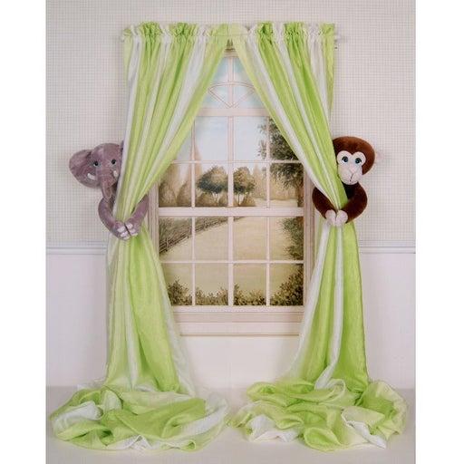 Elephant Monkey Curtain Tieback Holdback