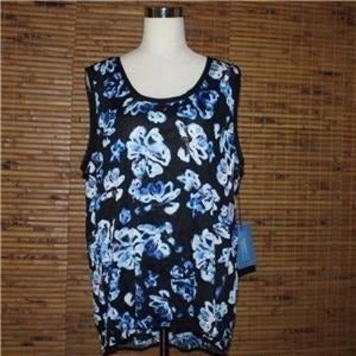 Simply Vera Wang Floral Shirt Tank Top