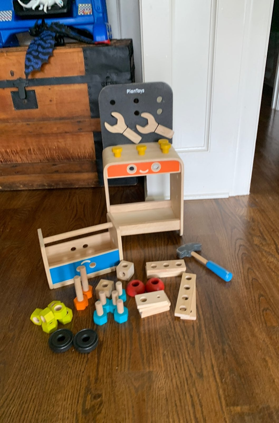 Plan toys workbench and toolbox