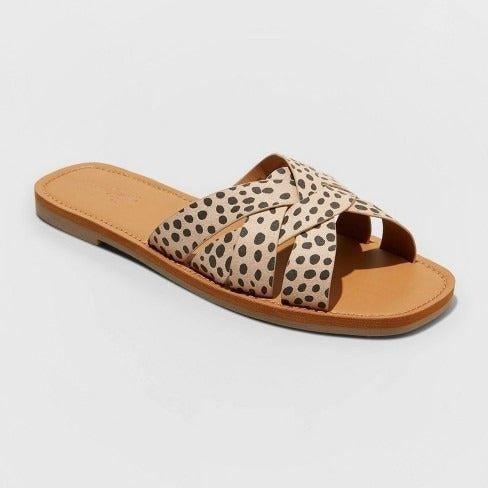Details about  /Universal Thread Women/'s Sammi Slide Open Toe Snake Print Sandals