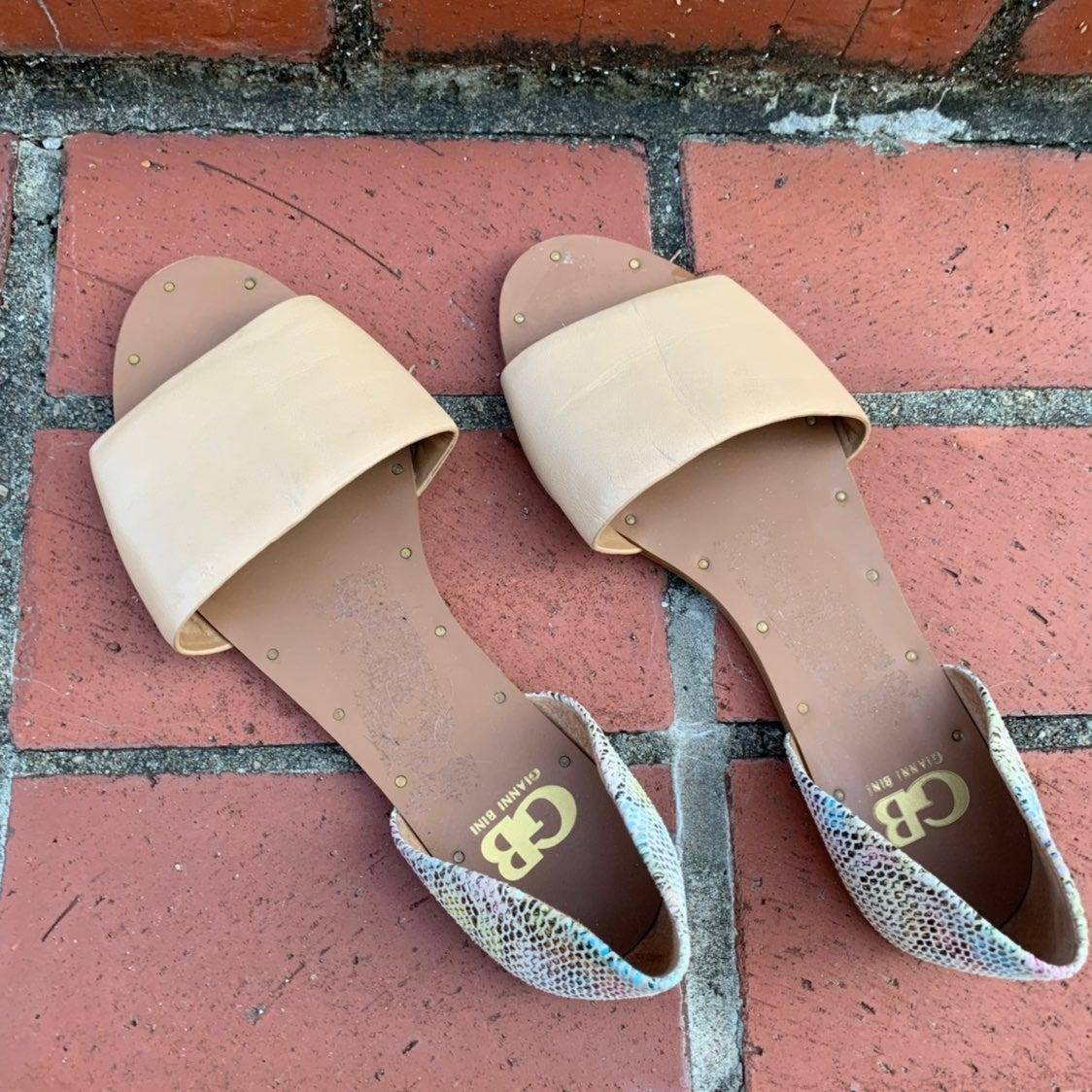 gianni bini flat sandals slip on shoes