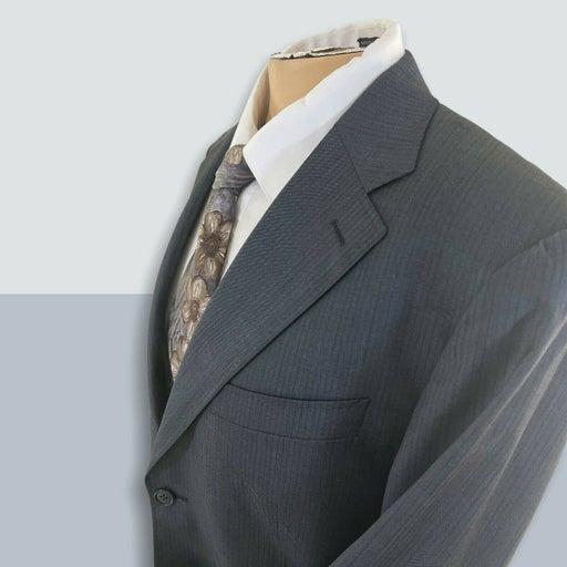 CANALI Black stripe 2 button 100% Wool