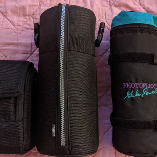 3 Lens Carrying Cases