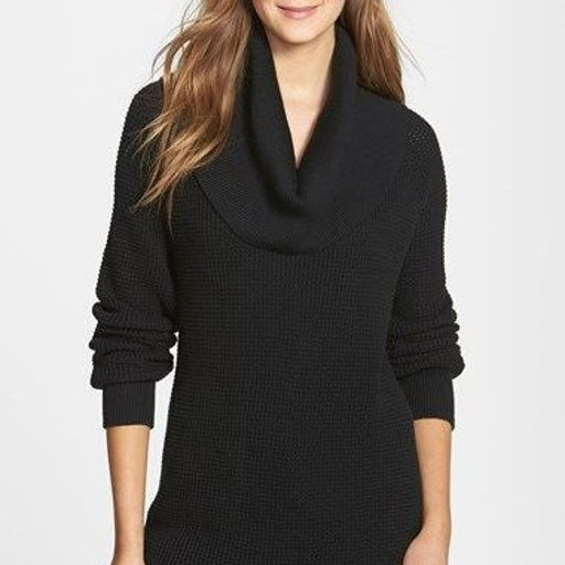 Michael Kors Cowl Neck Thermal Sweater