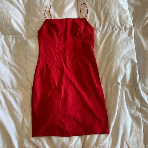 Urban outfitters red bodycon bungee mini dress S P