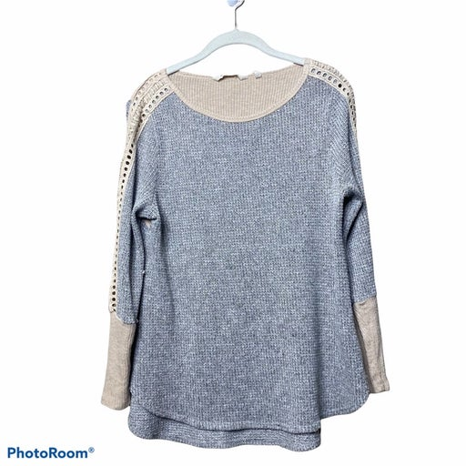 Soft surroundings gray thermal Bailey long sleeve top
