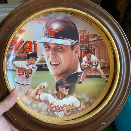 Cal Ripken Baltimore Orioles numbered collector plate with frame