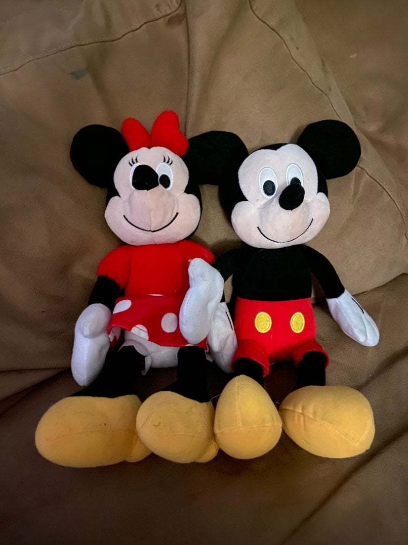 "14"" stuffed Mickey and Minnie"