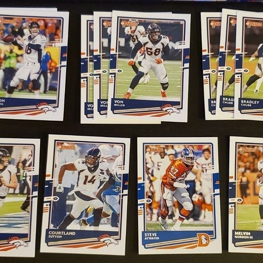 Denver Broncos NFL Donruss Card Lot