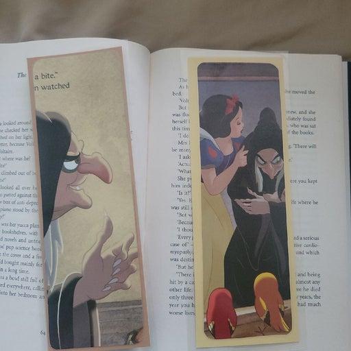 Disney Snow White bookmarks - villain