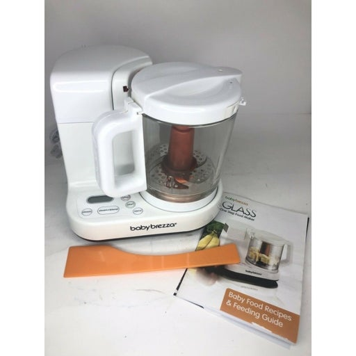 Baby Brezza Glass Baby Food Maker Cooker and Blender USED FREE SHIPPING