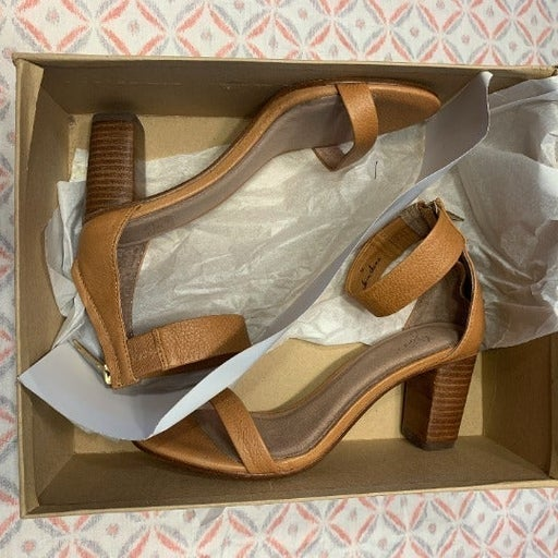 $320 JOIE LOUEZE ANKLE STRAP HIGH HEEL