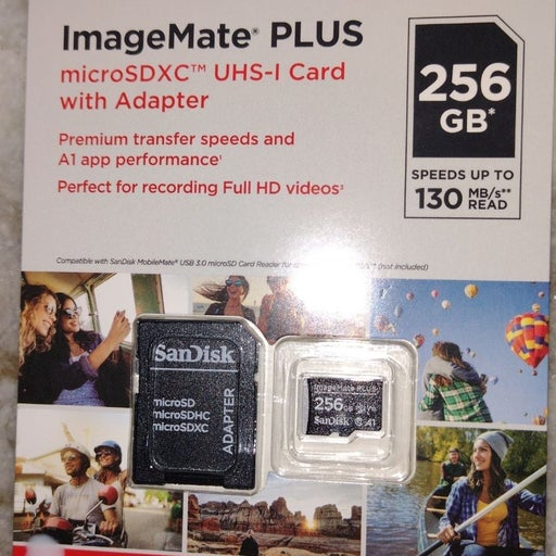 SanDisk PLUS micro SDXC card with adapte