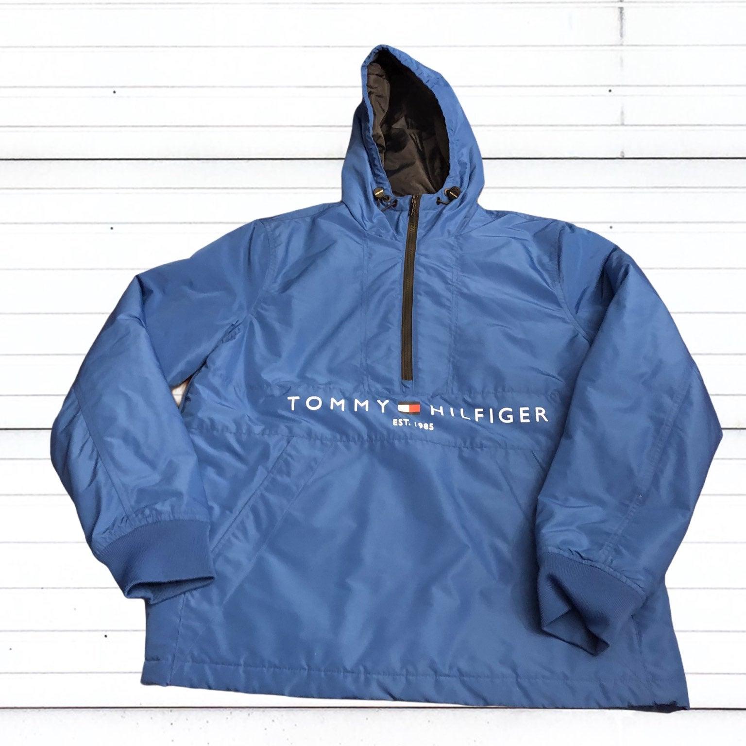 Tommy Hilfiger Men's Blue Pullover Coat