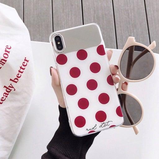 New iPhone X Max Mirror Polka Dot Case