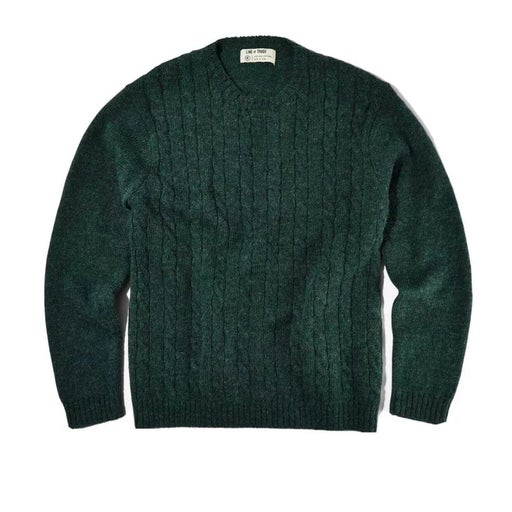 LINE OF TRADE CABLE SWEATER GREEN LARGE