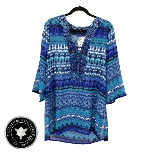 Raviya Blue Beaded Swimsuit Coverup NWT