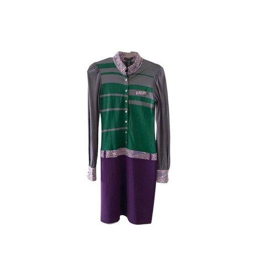 Custo Barcelona Green Purple Gray Dress