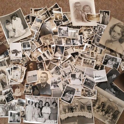 Vintage Antique Photographs Black White