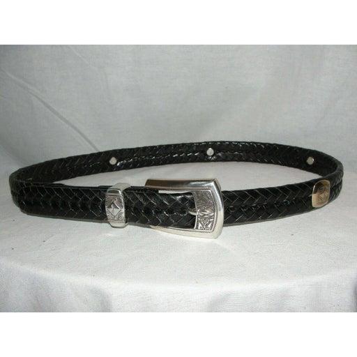 Black Woven Leather Belt Buckle Q2103