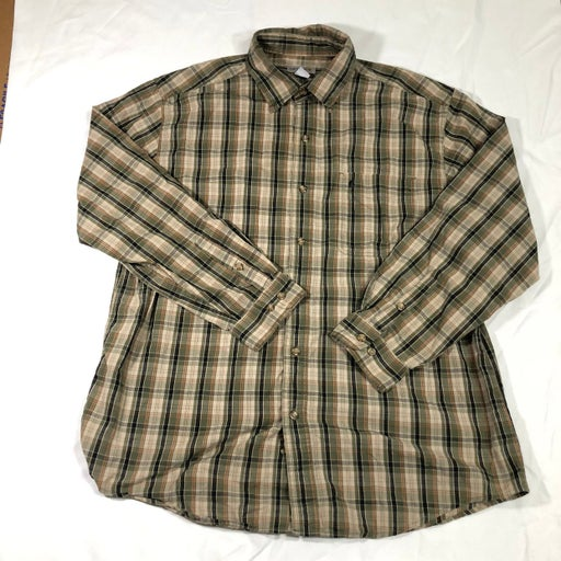 Carhartt Relaxed Fit Plaid Long Sleeve Button Down Shirt Men's Size XL