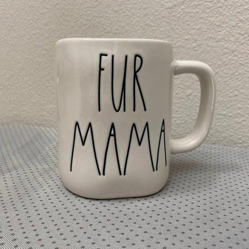 """Rae Dunn Ceramic  """"FUR MAMA"""" Mug"""