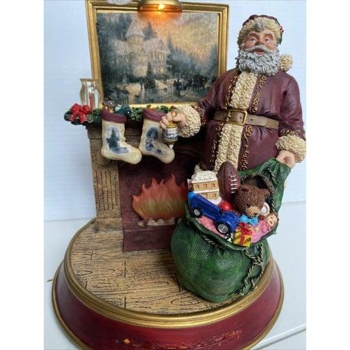 Thomas Kinkade Light Up Holidays Santa