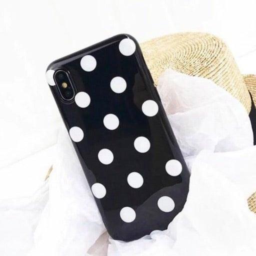 NEW iPhone X Black Polka Dot Case
