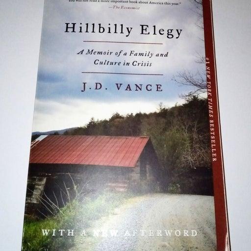 Hillbilly Elegy Paperback, JD Vance