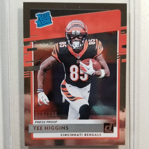 2020 Donruss Chrome Press Proof Tee Higgins Rated Rookie /99