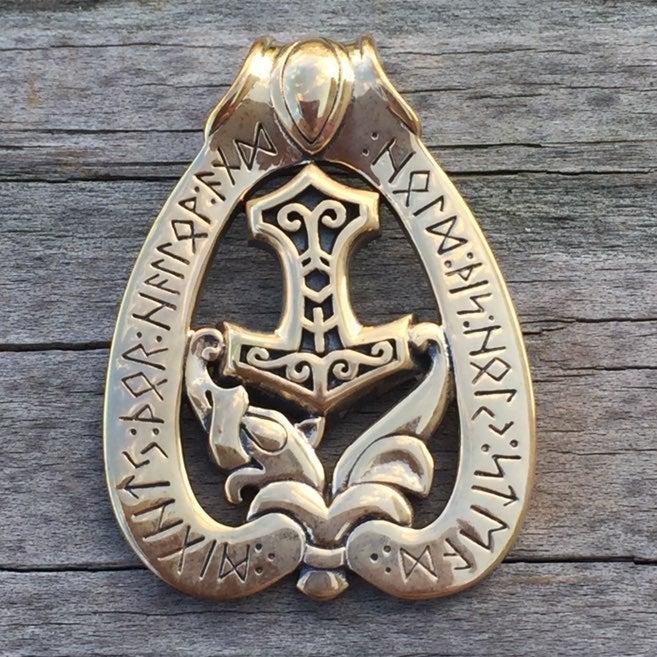 Thor's Dragon Hammer Viking Pendant