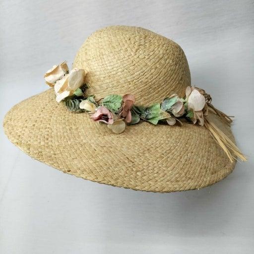 Vintage Wide Brim Woven Straw Sun Hat