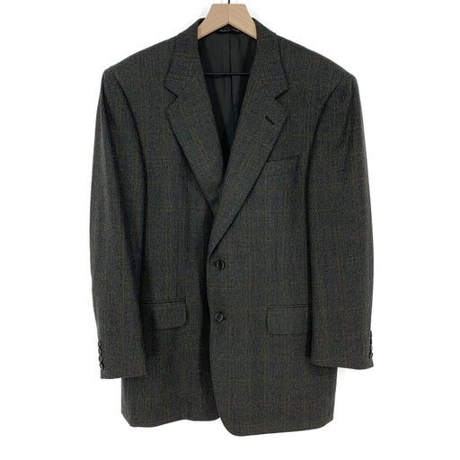 Canali Windowpane Plaid Suit Jacket