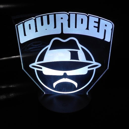 "Low Rider 6.5"" Custom Lowrider V2 Laser Engraved 3D Effect Acrylic LED Night Lam"