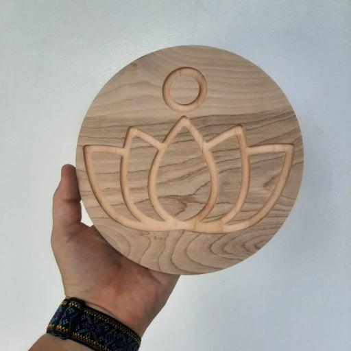 """6.5"""" lotus handmade crystal grid"""