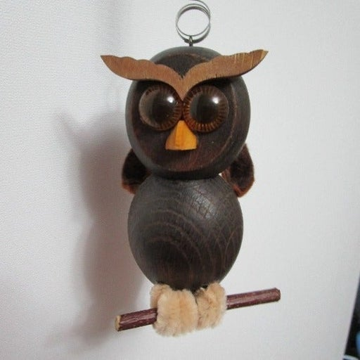 Very Cute Owl Spring Wooden Bouncy Toy