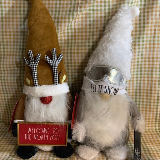 Rae Dunn Snowboard And Reindeer Christmas Gnomes
