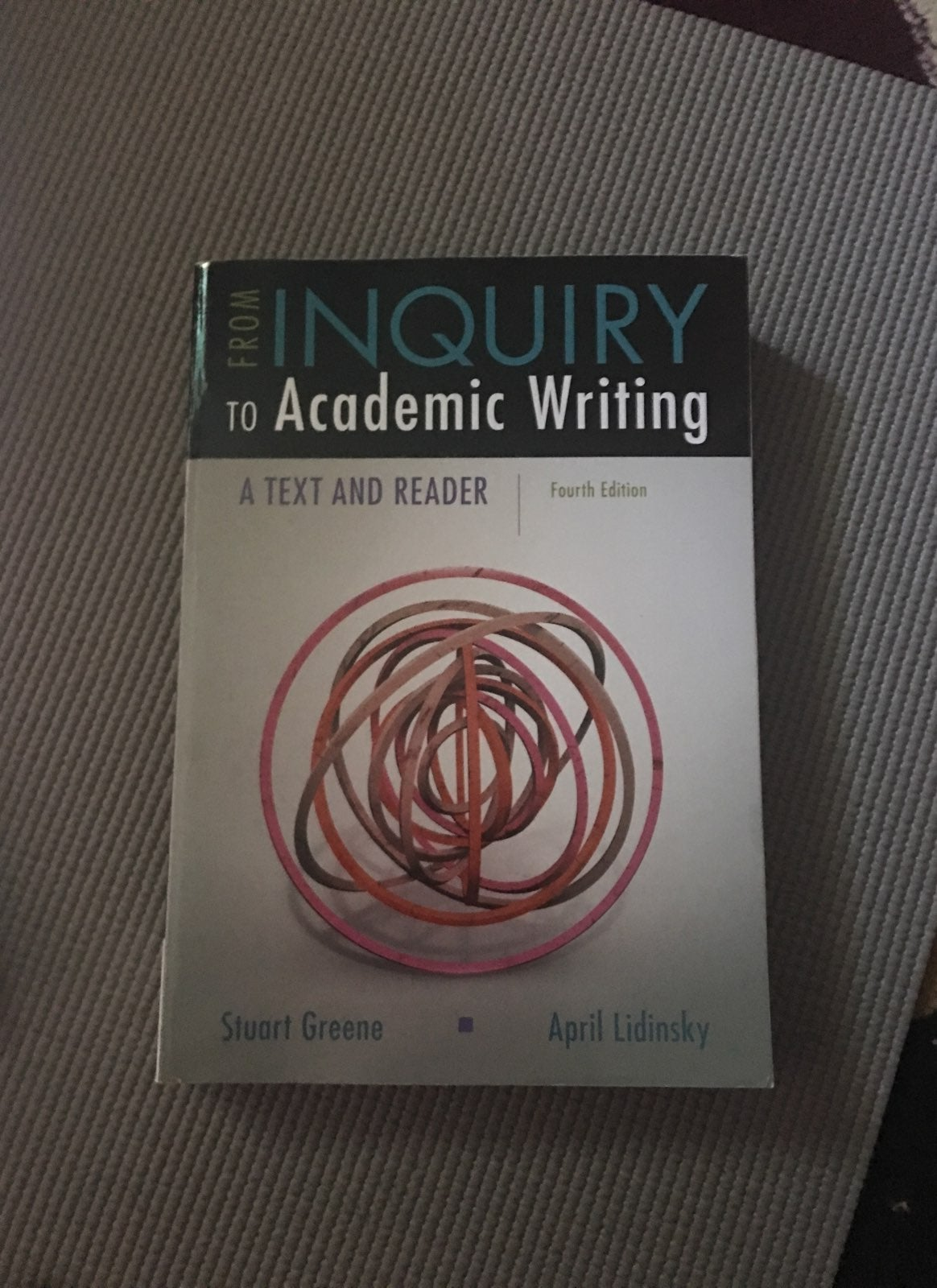Inquiry To Academic Writing- Text/Reader