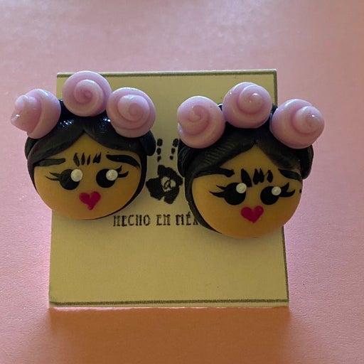 Handmade Frida Khalo pink headband earrings