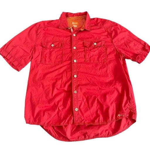 Crocs Mens Red Crosslite RT Outdoor Adventure SS Shirt, Size XL